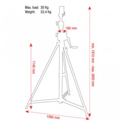 Showtec Wind-Up Lightstand