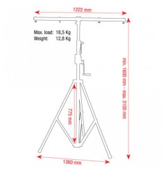 showtec Wind-Up Lightstand 3100 mm