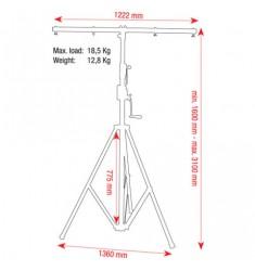 showtec Wind-Up Lightstand 3100 mm